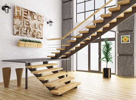 Indoor and outdoor staircases